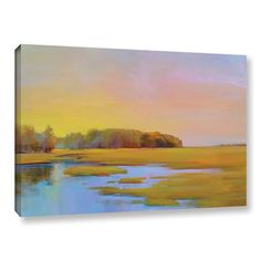 Found it at Wayfair - Summer Marsh 2 Painting Print on Wrapped Canvas