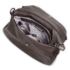 Women's Faux Leather Zipper Flap Crossbody Handbag : Target