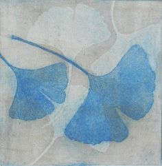 Ginkoes Painted Flowers, Abstract, Artist, Blues, Prints, Leaves, Painting, Popular, Design