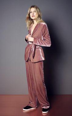 Per Una pink jacket, £79, Per Una pink trousers, £39.50, Shoes, £29.50.