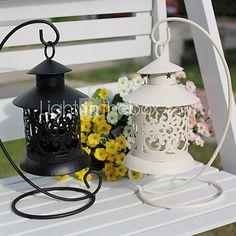 Wedding Décor Retro Hangting Ironwork Candle Holder(More Colors) - USD $6.99