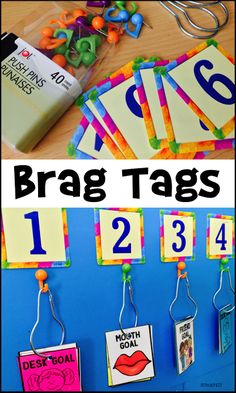Brag Tags & goal setting:  Great for back to school lessons.  Tips for display and lessons.  paid