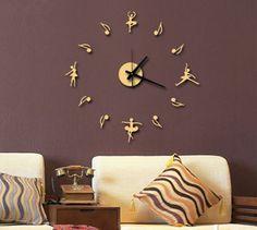 Gorgeous 3D Dancing Girl Wall Clock