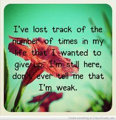 i'm not weak