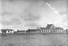 Historic photo of the Wyoming Territorial Prison.