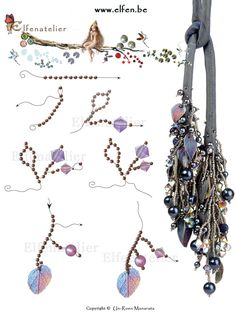 www.elfen.be Step by step making branches with seed beads and Swarovski Elements.