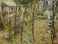 Charles Angrand (1854-1926)  Dans le jardin 1885