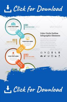 Business Infographic Elements   Color Choices  Infographic Buy