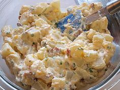 "Baked Potato Salad (not on my ""healthy eating"" plan but I love potato salad)"