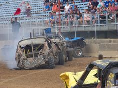 Indiana State Fair Demo Derby 2015