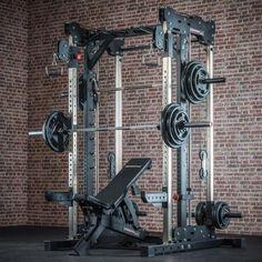 Multigimnasio profesional Barbarian-line - Smith Cable Rack Home Gym Basement, Home Gym Garage, Diy Home Gym, Gym Room At Home, Bodybuilding At Home, Gym Workouts, At Home Workouts, Dream Home Gym, Best Home Gym Setup