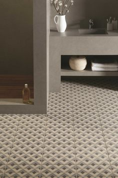 Pair Heath with an ultra modern geometric floor tile, such as Voltaire from the Odyssey collection.