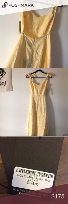 MontClair- Day lily in size 0 NWT Lovely, Cotton classic ref dress❤️ too fitted around my wait :( but so gorgeous and deserves to be loved ! Size 0 NWT Reformation Dresses Midi