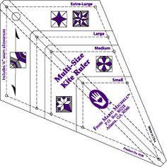 From Marti Michell Multi-Size Kite Ruler.  http://www.frommarti.com/ruler-kite.shtml