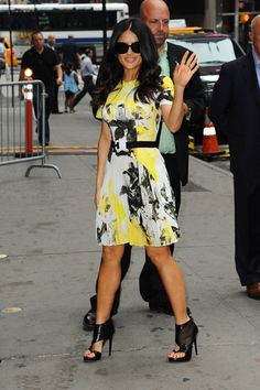 In Bloom: The Best Floral Frocks - Salma Hayek in Christopher Kane