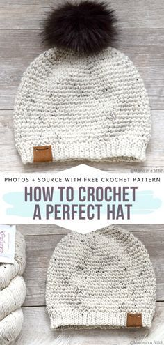 How to Crochet a Perfect Hat Free Pattern Have you heard that simplicity is the. How to Crochet a Perfect Hat Free Pattern Have you heard that simplicity is the ultimate sophistication? This pretty hat. One Skein Crochet, Crochet Hooks, Beanie Pattern Free, Basic Crochet Beanie Pattern, Free Knitted Hat Patterns, Easy Crochet Patterns, Crochet Ideas, Stitch Patterns, Motifs Beanie
