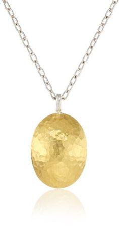 GURHAN %22Jordan%22 Silver%2C Gold Faced Pendant Necklace