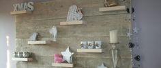 Wandbord van steigerhout.