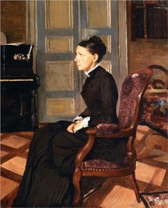 1884 - 'The Artist`s Mother' by Felix Vallotton (Swiss, Lausanne, oil on canvas. Lausanne, Camille Pissarro, Art Nouveau, Critique D'art, Beaux Arts Paris, Avant Garde Artists, Alberto Giacometti, Art Japonais, Post Impressionism