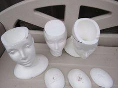 Turn a Styrofoam Wig Head into a Chic Planter