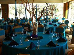 peacock wedding reception idea one