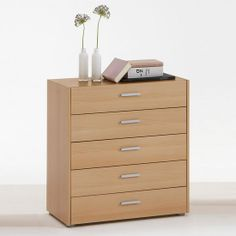 Add an element of traditional style in your modern #interiors with the help of Johanna 3 beach chest. It contains 5 #drawers that are complimented with beautiful metallic handles.