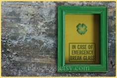 St Patricks Day Gift  Emergency Case  Box of Luck by ClosetCat, $18.00
