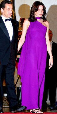 France's First Lady of Style - Purple Reign from InStyle.com