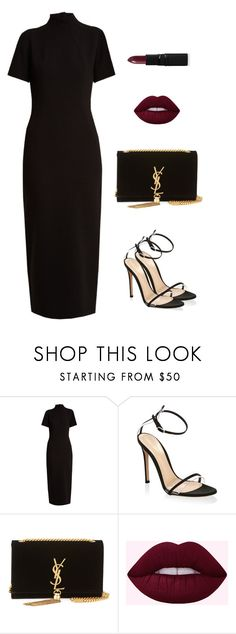 """Без названия #272"" by unicornby ❤ liked on Polyvore featuring Emilia Wickstead, Gianvito Rossi, Yves Saint Laurent and Inglot"