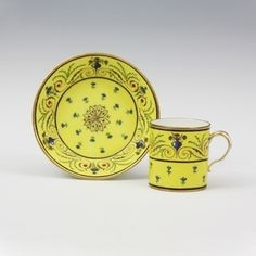 Tableware: A Sèvres Porcelain Cup and Saucer