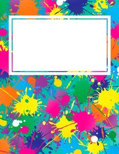 Paint Splatter Binder Cover