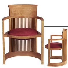 Chapter 18: Chair designed by Frank Lloyd Wright. This chair was the precursor to the office chair.