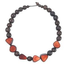 Gemma Tagua Necklace in Burgundy - Faire Collection