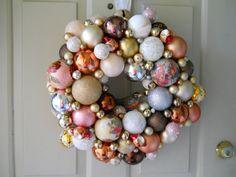 Exuberant ball wreath inspiration.