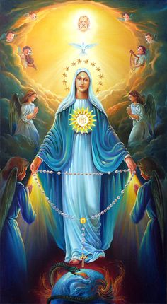 October 7 is the Feast day of Our Lady of the Rosary - This picture is beautiful