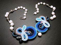 Spring Necklace // Soutache Jewelry / Soutache by PetraStoneJoyas