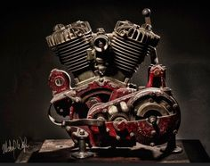 1922 Indian Chief factory cutaway motor, as seen on American Pickers.