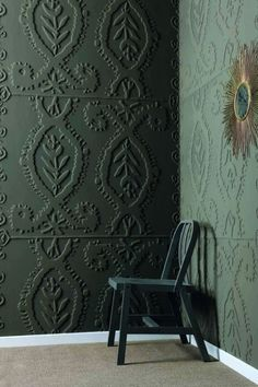 dimensional botanical wall coverings with a boho feel