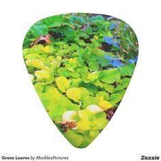 Green Leaves Guitar Pick #guitar #pick #Zazzle #plants #leaves #leaf