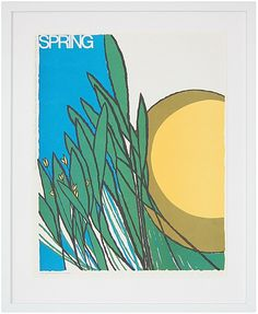 """Spring"" by Osborn Woods, $225, 22"" x 26"", available at Serena & Lily. #serenaandlily"