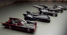 Batmobile models throughout history. I have owned all of them!