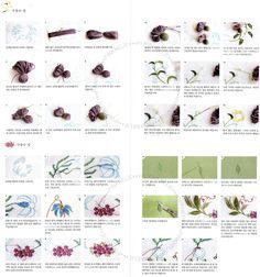 Stumpwork of Garden Flowers Craft Book by PinkNelie on Etsy