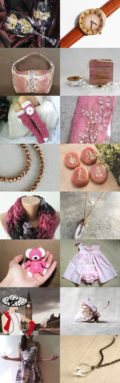 Pink and Brown by Laura P. on Etsy--Pinned with TreasuryPin.com