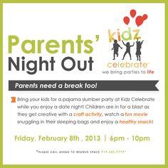 parents night out flyer morale pinterest parent night parents