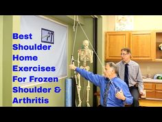 Best Shoulder Home Exercises for Frozen Shoulder & Arthritis (Adhesive Capsulitis & DJD) Frozen Shoulder Exercises, Shoulder Workout, Arthritis Exercises, Rheumatoid Arthritis Treatment, Hand Therapy, Physical Therapy, Shoulder Arthritis, Shoulder Problem, Occupational Therapy Activities