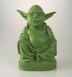 Yoda statuette-bouddha fun-geek