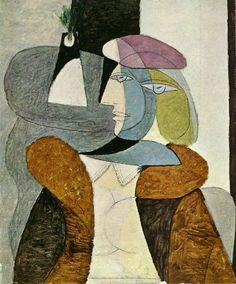Pablo Picasso, 1937 Portrait de femme au béret1 on ArtStack #pablo-picasso #art