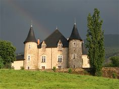 A subtle rainbow over Chateau de Picomtal in Crots, Southern Alps. Grey skies are rare in this area of France.