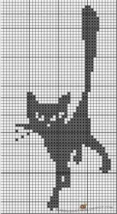Fair Isle Knitting Patterns, Knitting Paterns, Knitting Charts, Cross Stitching, Cross Stitch Embroidery, Cross Stitch Patterns, Quilt Square Patterns, Crochet Cat Pattern, Filet Crochet Charts