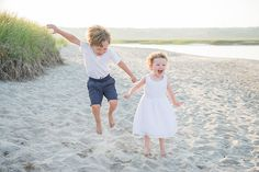Maine family beach portrait on Drakes Island photographed by Brea McDonald Photography. Nantucket Beach, Family Beach Portraits, Extended Family, Maine, White Dress, Island, Photography, Photograph, White Dress Outfit